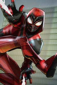 2160x3840 Spiderman Crimson Cowl Suit
