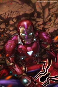 Spiderman Died In Iron Man Arms Artwork