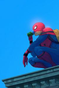 1440x2960 Spiderman Drink