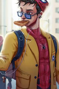 Spiderman Eating Waffle