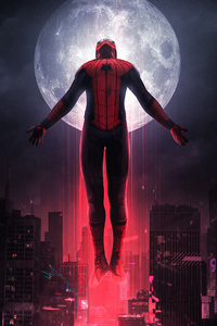 1440x2960 Spiderman Far From Home Art 4K