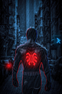 480x800 Spiderman Far From Home Back View 5k