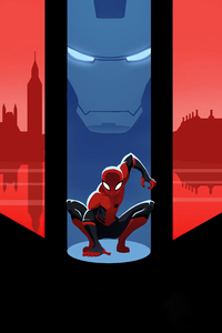 2160x3840 Spiderman Far From Home Comic Poster Minimal 5k