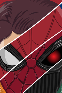 1242x2688 Spiderman Far From Home Latest Art