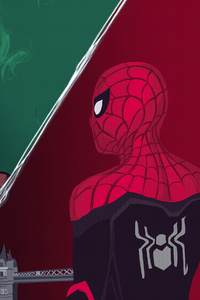 640x960 Spiderman Far From Home Movie Art 4k