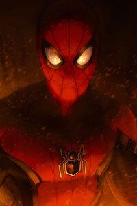 720x1280 Spiderman Fire
