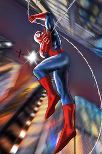 Spiderman Flying In The Sky
