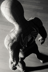 Spiderman Game Spider Logo 4k Monochrome