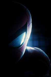 Spiderman Half Mask Face Closeup