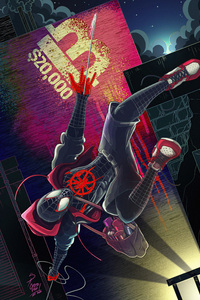 2160x3840 Spiderman Hanging Down
