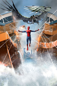 320x568 Spiderman Homecoming 5k