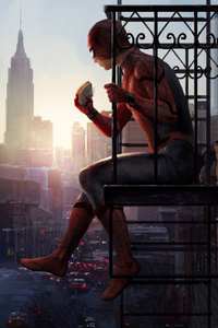 320x568 Spiderman Homecoming Artwork 5k