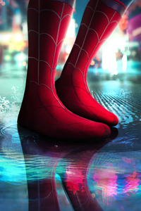 800x1280 Spiderman Homecoming Boots 4k