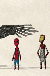 480x854 Spiderman Homecoming Fan Art
