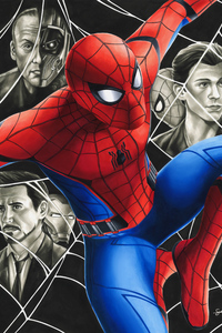 480x854 Spiderman Homecoming Fanart 4k