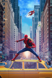 640x960 Spiderman Homecoming Movie Poster