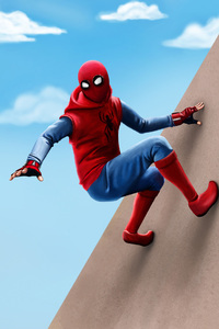 480x854 Spiderman Homecoming Suit Homemade Artwork