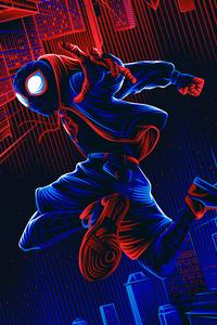 320x568 Spiderman Illustration 4k