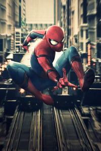 Spiderman In Action 4k