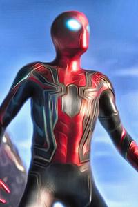 2160x3840 Spiderman In Avengers Infinity War 2018 4K Artwork