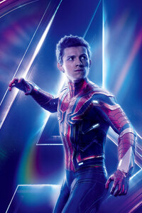 Spiderman In Avengers Infinity War New 8k Poster