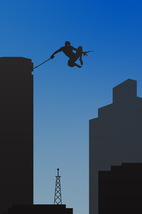 Spiderman In City Minimal 4k
