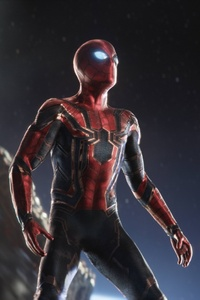 Spiderman In Intergalactic Space Avengers Infinity War