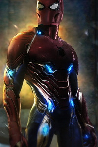 Spiderman In Iron Suit