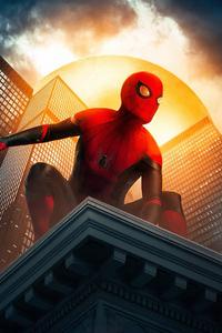 750x1334 Spiderman In New York Art