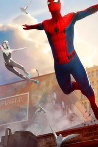 720x1280 Spiderman In Ny