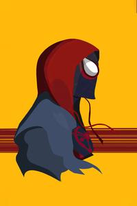 2160x3840 Spiderman In Spider Verse Minimal Digital Art 4k