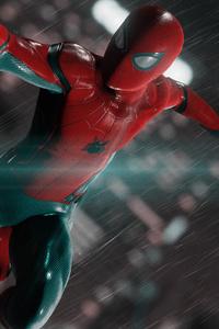 Spiderman In The Rain