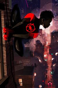 1080x2280 SpiderMan Into The Spider Verse 10k