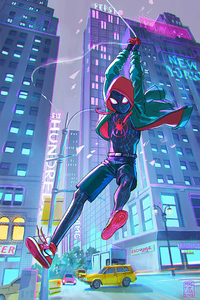 320x568 Spiderman Into The Spider Verse 4k 2019