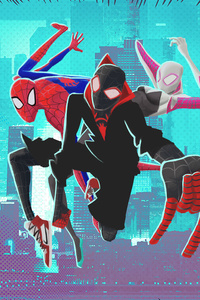 SpiderMan Into The Spider Verse 4k New Artwork