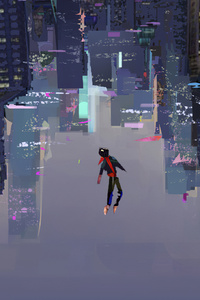 Spiderman Into The Spider Verse Art 4k
