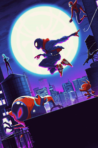 1242x2688 SpiderMan Into The Spider Verse Cool Art
