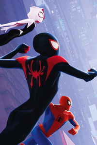 1080x2160 SpiderMan Into The Spider Verse International Poster