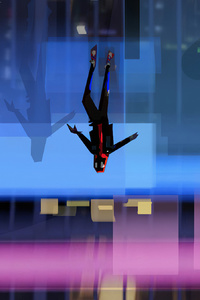 2160x3840 Spiderman Into The Spider Verse Jumping Down 4k