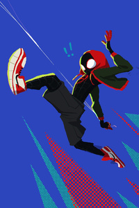 SpiderMan Into The Spider Verse Movie 4k 2018 Art