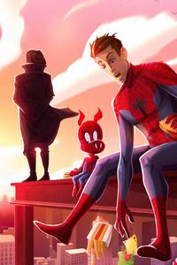 SpiderMan Into The Spider Verse New Artwork 4k