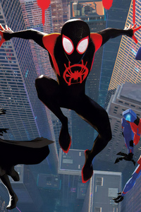 1242x2688 SpiderMan Into The Spider Verse New Poster Art