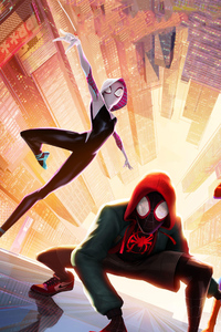 1080x2280 SpiderMan Into The Spider Verse New Poster