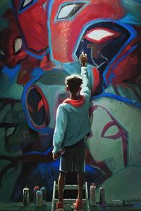 240x320 Spiderman Into The Spider Verse Paint Art 4k