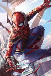 Spiderman Iron Suit Art 5k