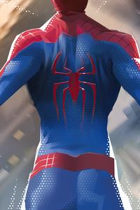 1080x2280 Spiderman Jumping Down 5k