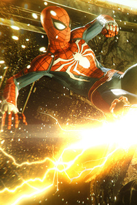 Spiderman Kicking Electro