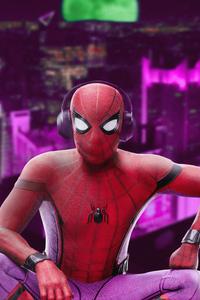 Spiderman Listening Music 4k