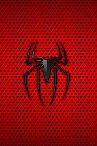 640x960 Spiderman Logo Background 4k