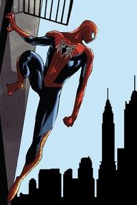 Spiderman Looking At City